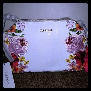 NWT Calvin Klein Floral Crossbody Purse